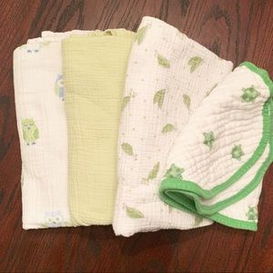 Aden + Anais Burp Cloth/Bib and Swaddle Blankets